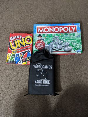 UNO, Yard Game & Monopoly for Sale in Detroit, MI