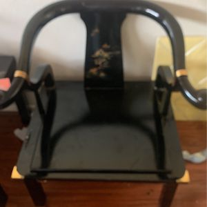 Hand Painted Japanese Garden Vintage Chair for Sale in Houston, TX