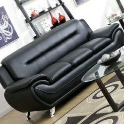 Enna Black Sofa & Loveseat 🔴$39 DOWN Payment Only 100 DAY same as cash for Sale in Philadelphia,  PA