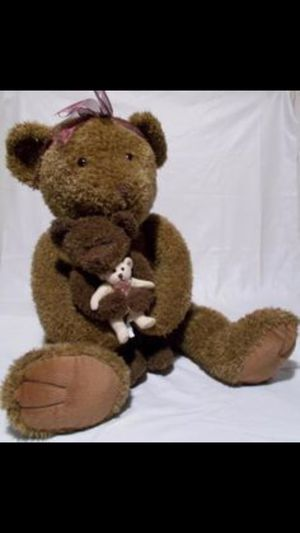 Vintage. 36 inch Russ Teddy Bear with her baby pristine adult owned fresh non odors original price over100 for Sale in Northfield, OH