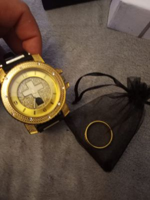 Watch + ring. Color gold new $230 for Sale in Queens, NY