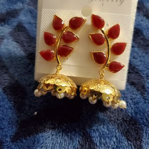 Ruby Gold Plated Earrings for Sale in Milford Mill, MD