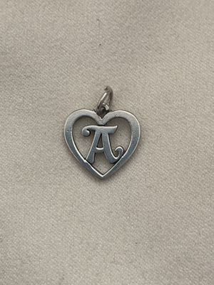 Retired James Avery Initial A Heart Charm $85 for Sale in San Antonio, TX