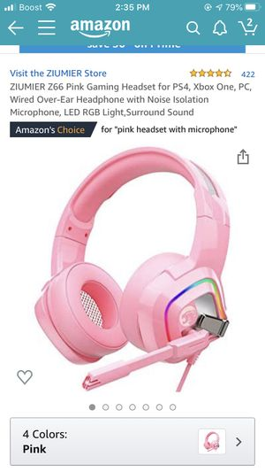Zumier Z66 PINK Gaming Headset for Sale in DeBary, FL