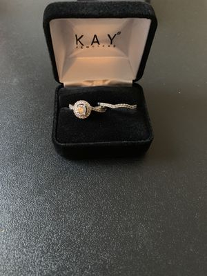 Radiant Reflections wedding band and engagement ring for Sale in Marysville, OH