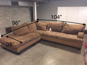 Sectional sofa, microfiber FREE for Sale in Seattle, WA