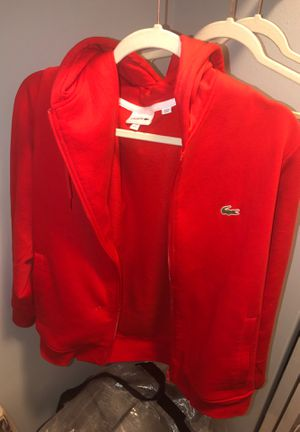 All red Lacoste sweatshirt Lowball price❗️❗️ for Sale in Silver Spring, MD