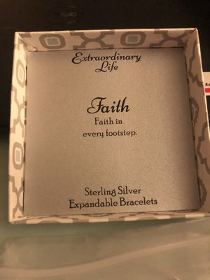 Faith in every footstep bracelet for Sale in Severna Park, MD