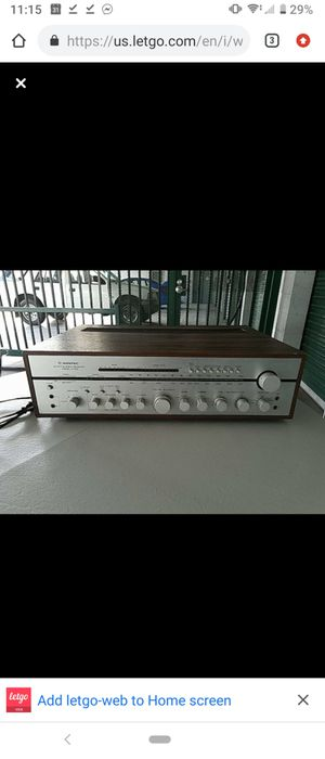 Vintage Wintec R1120 Japanese Stereo Receiver for Sale in Sunnyvale, CA