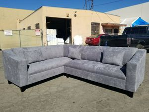 NEW 7X9FT GIBSON GRAPHITE FABBRIC SECTIONAL COUCHES for Sale in Costa Mesa, CA