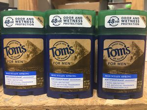 Toms of Maine mountain spring deodorant and antiperspirant for sale 4 pieces for $5 for Sale in Katy, TX