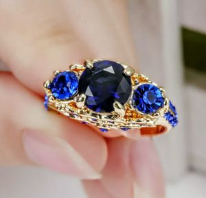 Gold Plated Sapphire Ring Size 6 for Sale in Wichita, KS