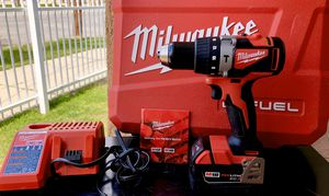 NEW •• MILWAUKEE FUEL BRUSHLESS DRILL W/ RED LITHIUM XC3.0 BATTERY •• $150 for Sale in Bakersfield, CA