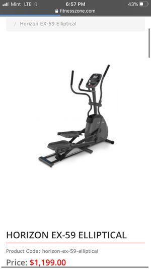 Horizon EX59 elliptical (new $1200) for Sale in Oklahoma City, OK