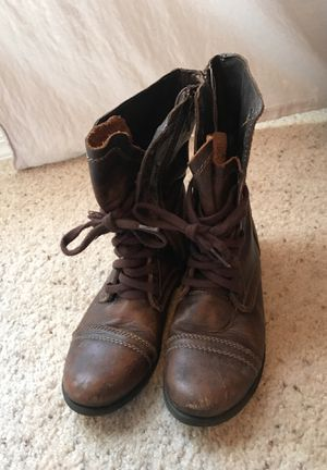 Steve Madden Brown Leather Combat boots for Sale in Tampa, FL