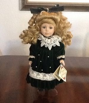 "Porcelain doll/ 13"" porcelain collectible doll/ toy or collectible for Sale in Brandon, FL"
