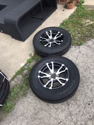 Tires wheels trailer 15 205 75 15 for Sale in Bensenville, IL