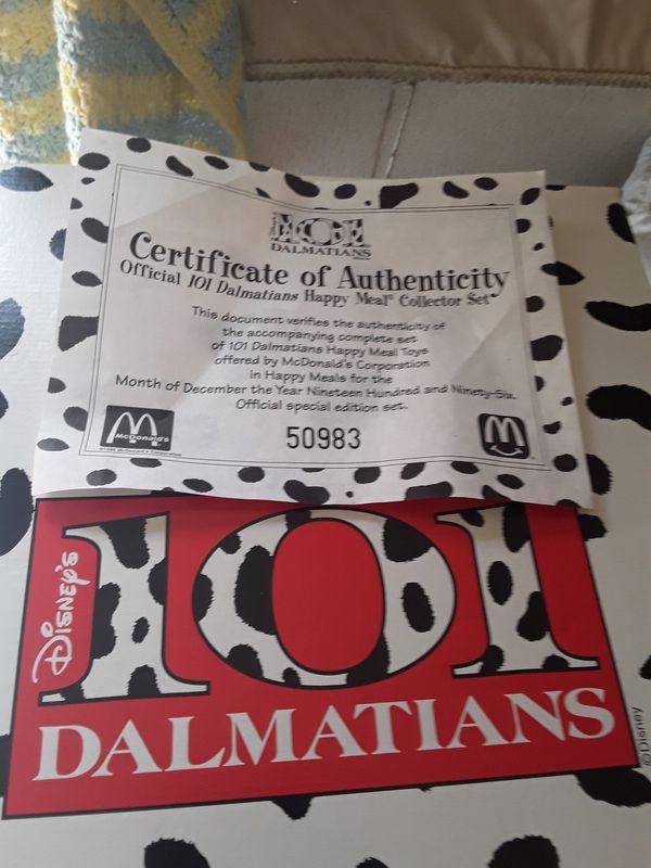 1997 101 Dalmatians collectibles by Mc Donalds