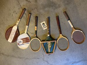 Lot of six vintage tennis rackets for Sale in San Clemente, CA