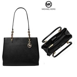 NWT MICHAEL KORS Sofia Large Leather Tote Black Shoulder Bag Handbag Purse satchel for Sale in Northville, MI