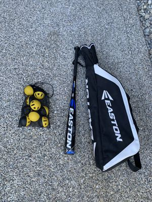 Baseball bag, bat, and wiffle balls for Sale in University Place, WA