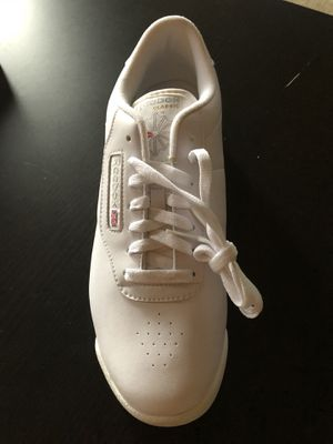 All white classic Reebok (woman's) for Sale in Cranbury, NJ