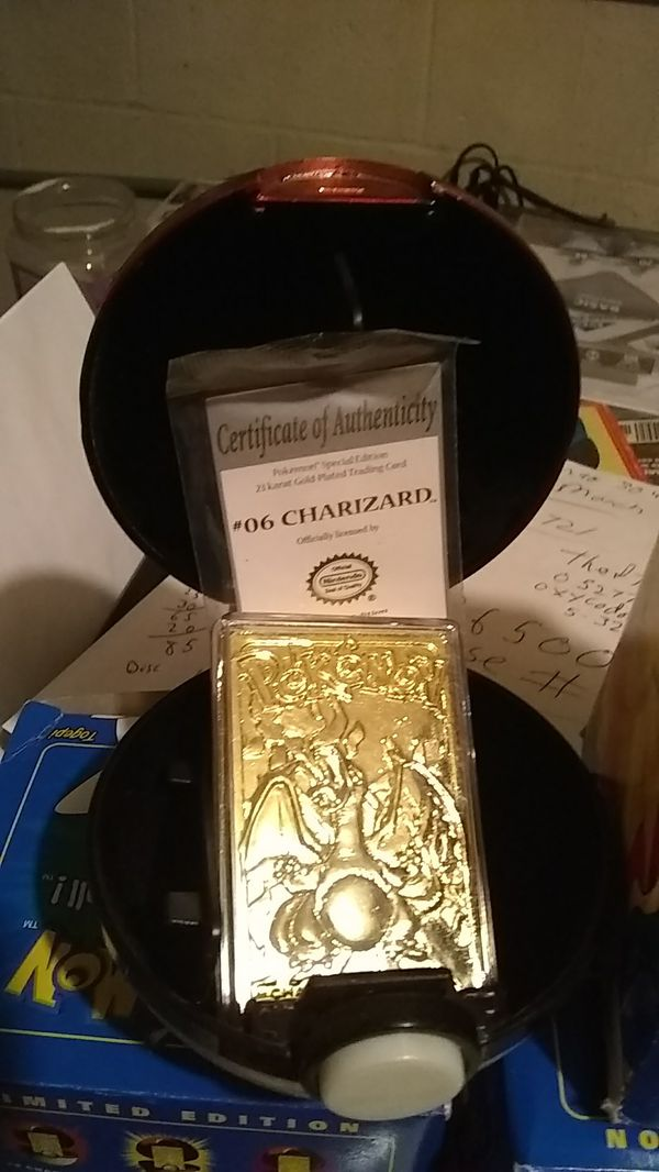 Pokemon, Charizard,Togepi rare golden cards in the Pokemon ball