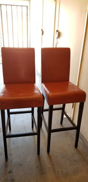 Leather Barstools (set of 2) for Sale in Long Beach, CA