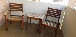 Outdoor wood patio furniture set for Sale in Denver, CO
