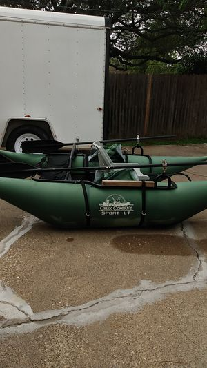 Creek company inflatable Pontoon boat for Sale in Dallas, TX