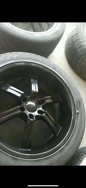 """6 lug 22"""" rims blacked out for Sale in Houston, TX"""
