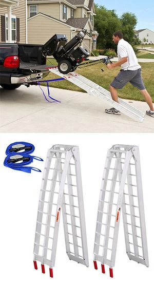 $115 NEW Pair 7.5ft Aluminum Motorcycle Folding Loading Ramp Street Dirt Bike 1500Lbs Rated for Sale in Montebello, CA