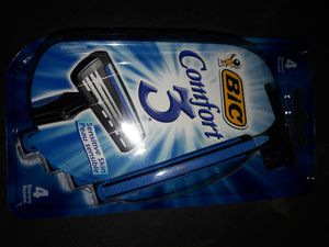 Bic Comfort 3 Sensitive For Men Disposable Shaver: 4 packs for $10 (4 count in each pack) for Sale in Garland, TX