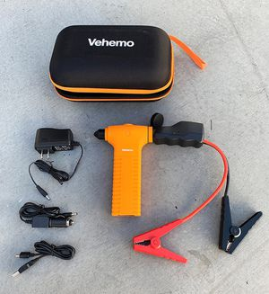 New in box $20 Car Jump Starter 400A Peak Current, 11000mAh Power Bank, Built-in Escape Hammer & LED Flashlight for Sale in Whittier, CA