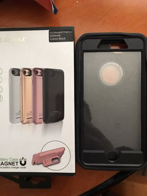 iPhone 7 or 8 Plus smart battery case and outter box for Sale in Bakersfield, CA