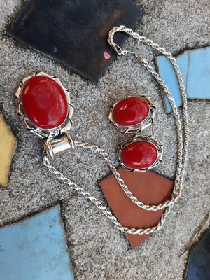 Taxco Mexico red Jasper jewelry set for Sale in Largo, FL