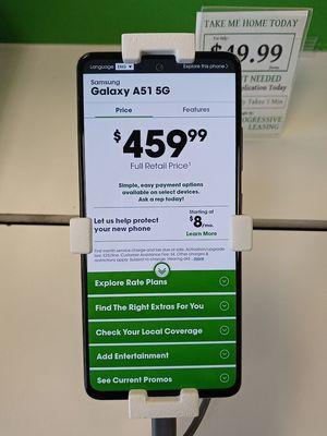 Samsung Galaxy A51 5G @Cricket for Sale in Paragould, AR