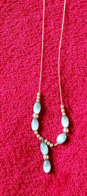 Aqua/Gold Necklace for Sale in Manassas, VA