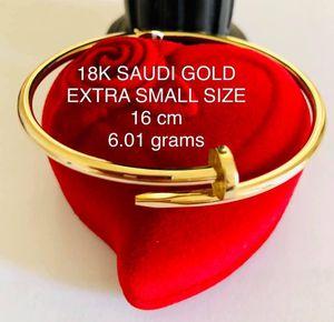 Authentic Cartier style 18K saudi GOLD $75 per gram for Sale in Hudson, FL