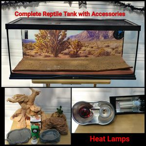 COMPLETE REPTILE TANK WITH ACCESSORIES for Sale in Ontario, CA