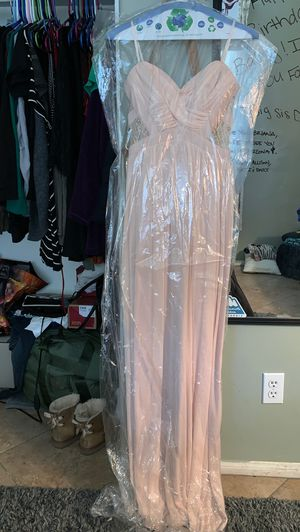 Way-In Clothing Co. size 3 light pink/ivory strapless dress for Sale in Palmdale, CA