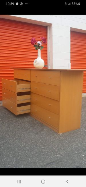 MODERN LONG DRESSER WITH BIG DRAWER DRAWER SLIDING SMOOTHLY EXCELLENT CONDITION for Sale in Fairfax, VA