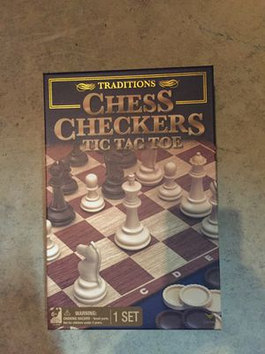 3 in 1 game. Chess. Checkers. Tic Tac Toe. for Sale in Alexandria, KY