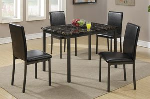 Brand new brown or black metal dining set (48×30×30H table) for Sale in San Diego, CA