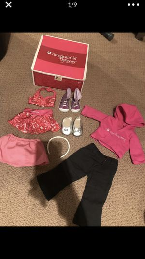 American Girl clothes and shoe set in Box for Sale in Geneva, IL