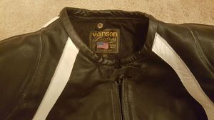 NEW VANSON MOTORCYCLE JACKET AND RIDING PANTS LEATHER PROTECTION GEAR for Sale in Alexandria, VA