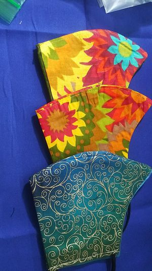 Adult face masks using African-WAX fabric for Sale in West Columbia, SC