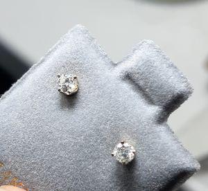 14k solid gold 0.14ct Diamond earrings for Sale in San Antonio, TX