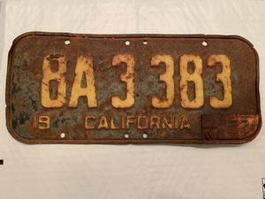 1951 california license plate 53 yom tab rusty for Sale in Waterford, CA