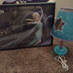 Lamp and Frame the Frozen Movie for Sale in Clovis, CA